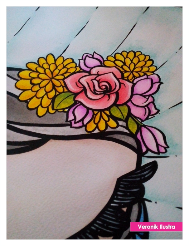 my lovely tehuana by veronik ilustra