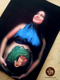 Ilustracion bebé body paint 005 by Veronik Ilustra