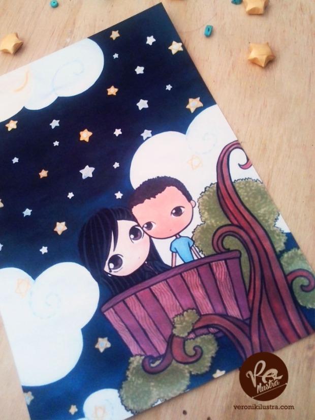 Ilustracion Ivan y Karen by Veronik Ilustra