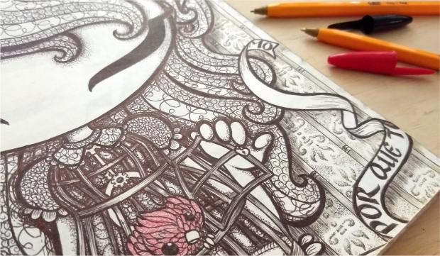 ilustracion Entintado boligrafo by Veronik Ilustra