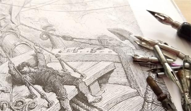 Ilustracion Gustavo Dore by Veronik Ilustra