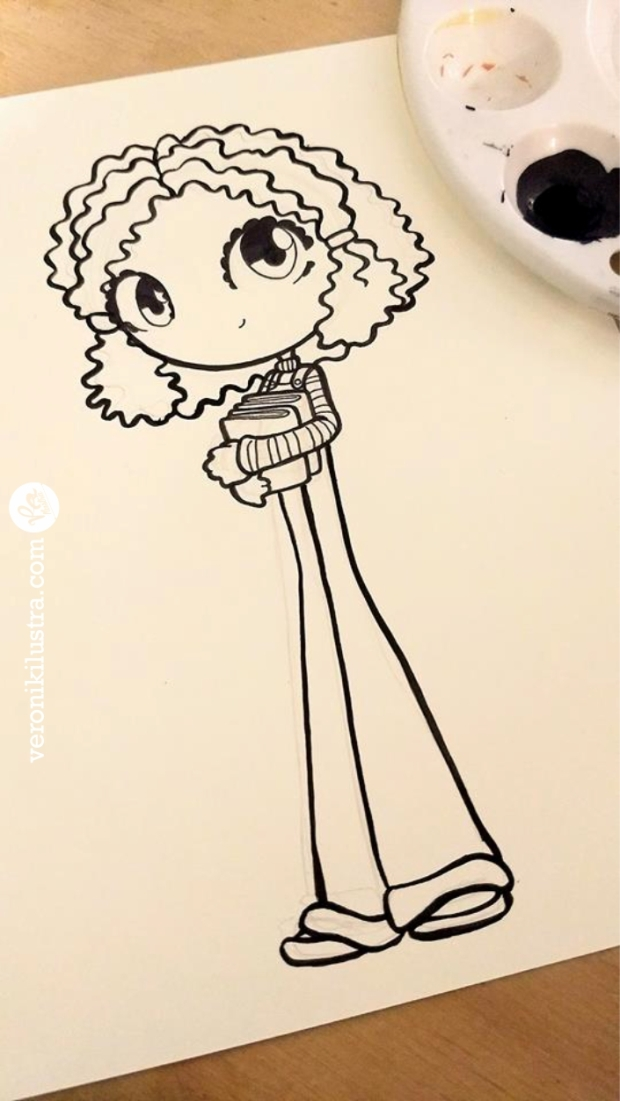 #Inktober, ilustracion, blanco y negro, dibujo, entintado, as told by Ginger, fanart, Veronik Ilustra, caricaturas de los 80´s